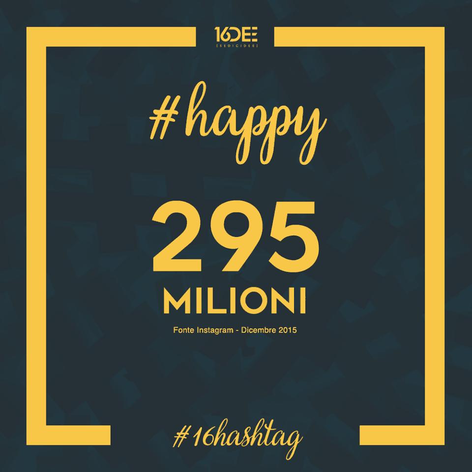 Sedicidee - a cosa servono gli hashtag - parola chiave #happy