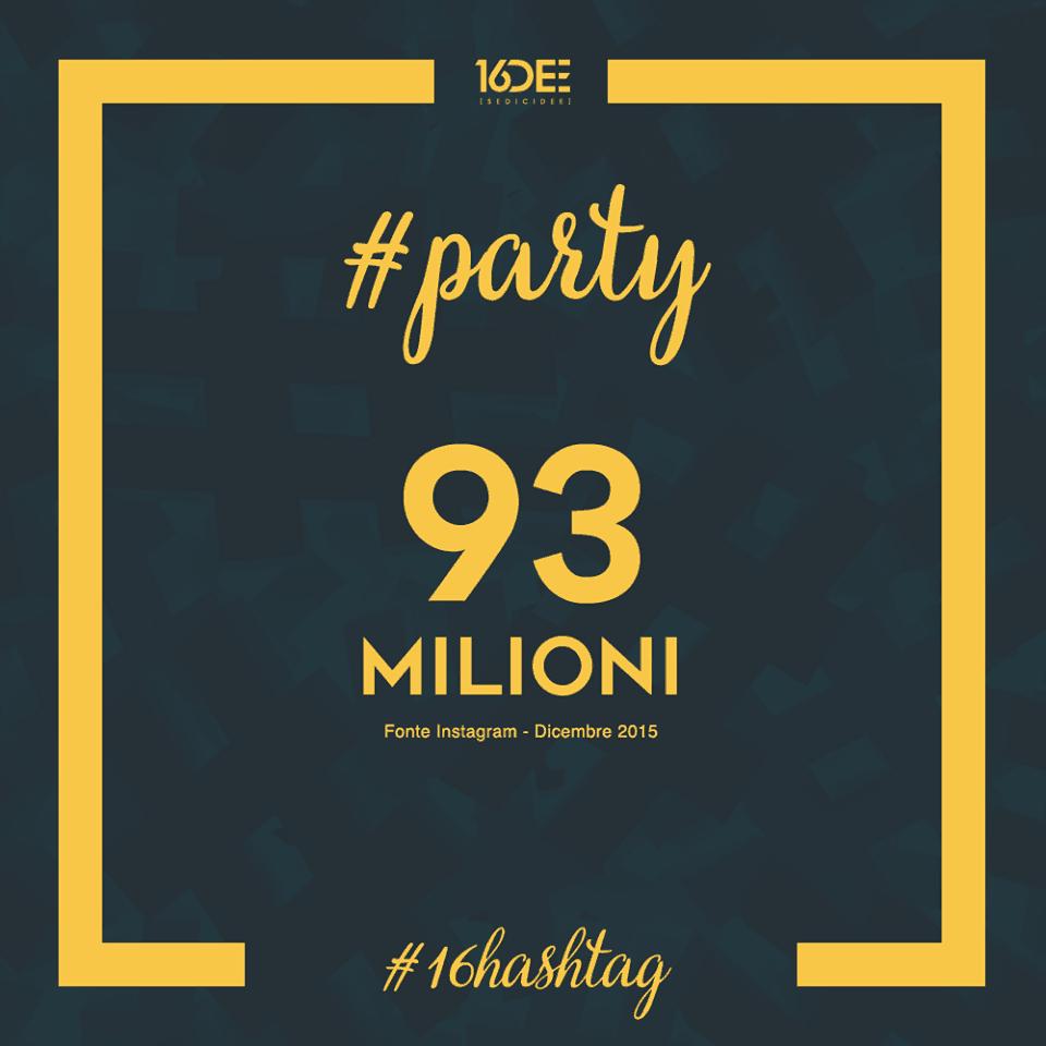 Sedicidee - a cosa servono gli hashtag - parola chiave #party