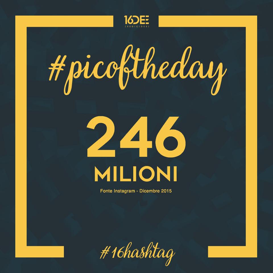 Sedicidee - a cosa servono gli hashtag - parola chiave #picoftheday