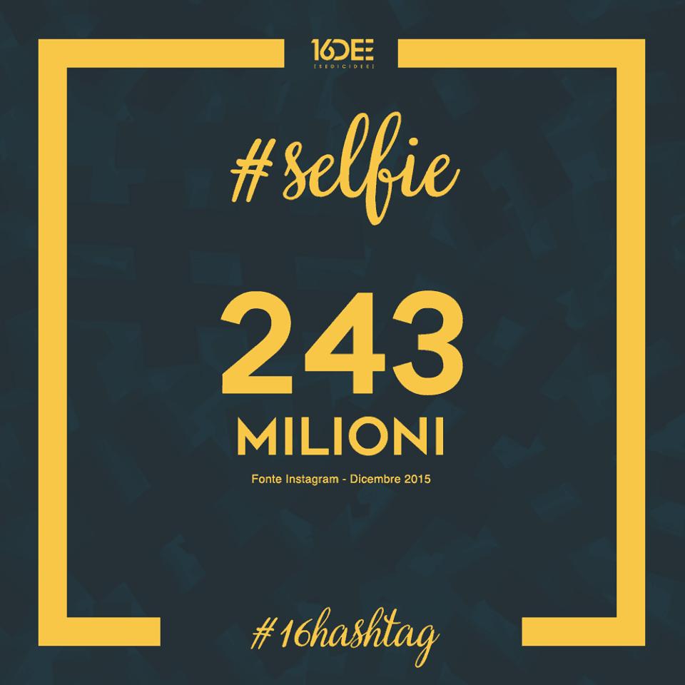 Sedicidee - a cosa servono gli hashtag - parola chiave #selfie