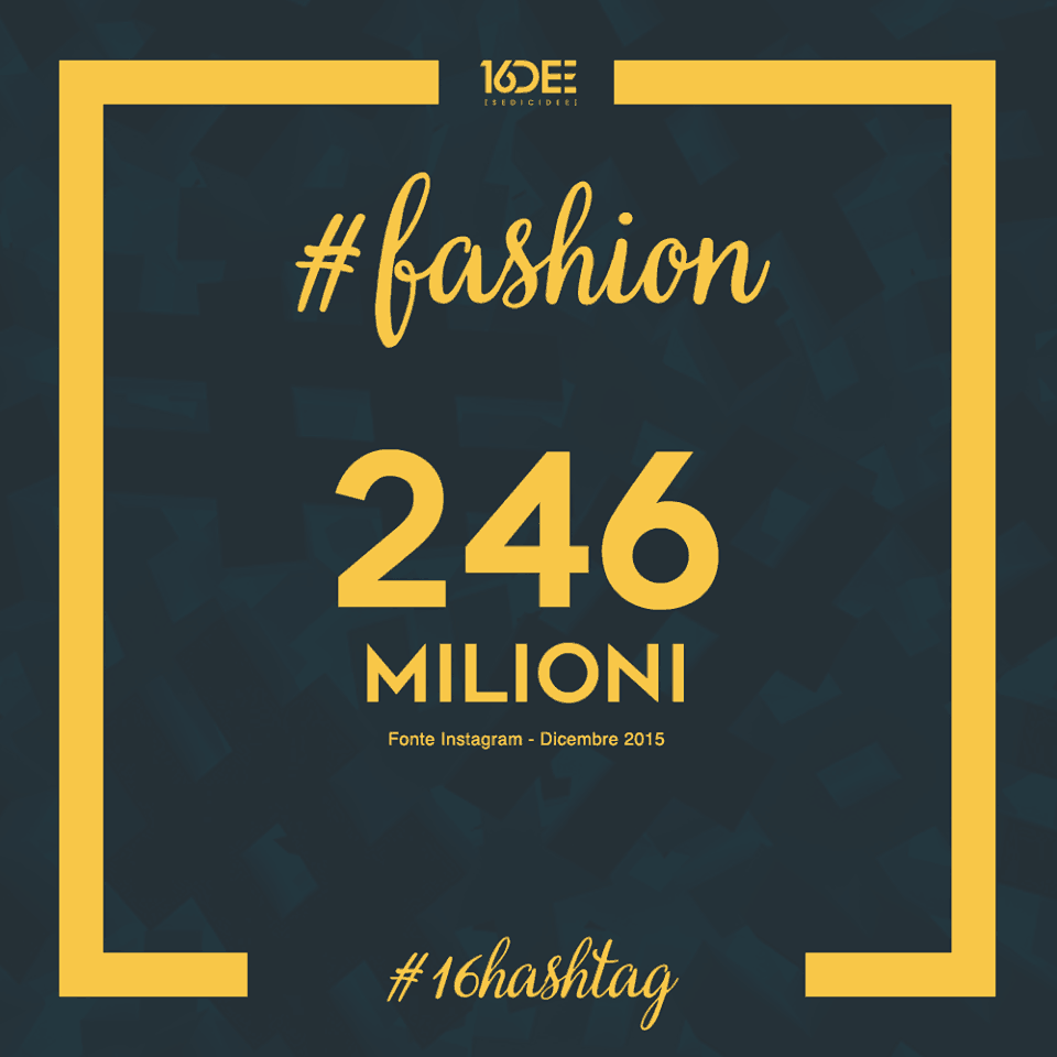 Sedicidee - a cosa servono gli hashtag - parola chiave #fashion